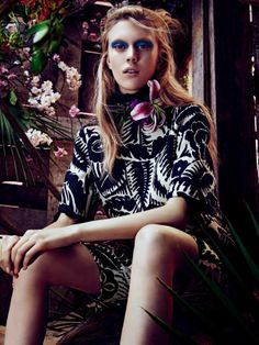 #JulianaSchurig by #SharifHamza for #VogueJapan March 2014