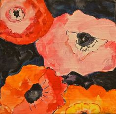 poppy - Kate Lewis (Graphite, Watercolor and Gouache on Canvas)