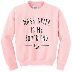 Nash Grier Is My Boyfriend - Unisex Sweatshirt - 4 Colours - Street Grunge Trend Tumblr Blogger