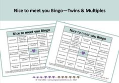 People Bingo TWINS - Icebreaker