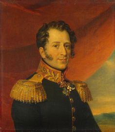 Oil painting Dawe George English Portrait General Alexei Yermolov free shipping
