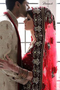 dulhan indian pakistani bollywood bride desi wedding dulha groom                                                                                                                                                     More