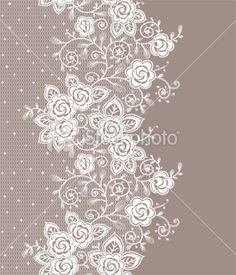 Vertical lace seamless pattern Royalty Free Stock Vector Art Illustration
