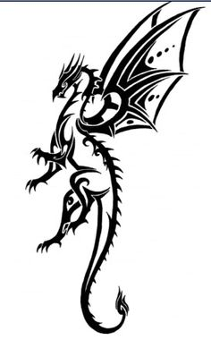 Dragon by Tribalchick101.deviantart.com on @DeviantArt