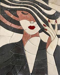 The same sassy lady but a lot hotter in . Garden Tiles, Mosaic Garden Art, Mosaic Tile Art, Pebble Mosaic, Mosaic Crafts, Mosaic Glass, Mosaic Designs, Mosaic Patterns, Vitromosaico Ideas