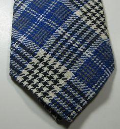 ULTRA RARE Rich Blue White Plaid Wide Vtg  RARE Tie  #unbranded #NeckTie