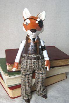 Steampunk Fox Art Doll