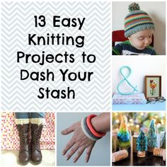 Super Stashbusters: 18 Easy Knitting Patterns