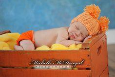 Newborn Hats, Baby Hats, Crochet Baby Hats, Newborn Baby Girl Hats, Photography Prop, Newborn to Three Months. $8.99, via Etsy.