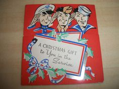 Vintage 1940's WWII A Christmas Gift to You in The Service Greeting Card | eBay
