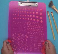 DIY Makeup Tutorials : DIY Makeup Brush Cleaning Board | Simple & Fun DIY!