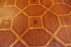 Detail of the intricately painted living room floor in the Mary Douglas Drysdale designed living room at Rothesay, the 2010 Richmond Symphony Designer House