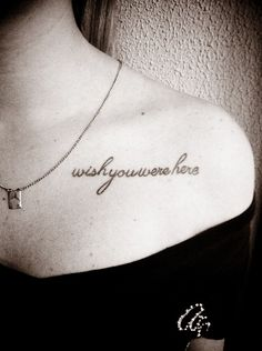 """Wish you were here"" Done at Dim's Studio - Belo Horizonte/Brazil."