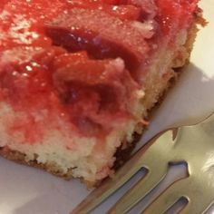 Easy Rhubarb Upside-Down Cake