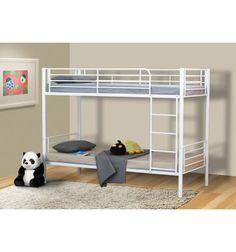 Superbe lit superposés séparables conçu en métal avec une belle couleur blanche ajoutera une touche chaleureuse à votre chambre, vous avez la possibilité d...