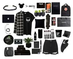 """Black Coffee, Black Clothes ☕️"" by itsezi ❤ liked on Polyvore featuring Retrò, Authentics, Chanel, FOSSIL, HUGO, Boston Warehouse, Fogarty, Fjällräven, Givenchy and Madewell"