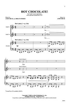 Hot Chocolate (Two-Part ) by Andy Beck & Bri | J.W. Pepper Sheet Music - Grades 4-5. Such a great song. The choreography makes this song even better!