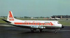 Chicago Midway Airport - Capital Airlines - Vickers Viscount  (1958) (N7446) Radar equipped beauty heading toward the Capital gate.. Photo by Pat B