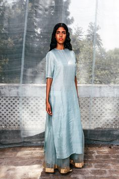 By Sanjay Garg of Raw Mango. Shop for your wedding trousseau, with a personal… Ethnic Suit, Indian Ethnic Wear, Indian Style, Ethnic Fashion, Indian Fashion, Indian Dresses, Indian Outfits, Indian Couture, Indian Attire