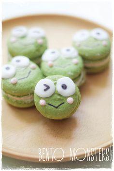 Keroppi Matcha Macaron by bentomonsters, via Flickr