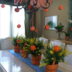 March Madness Party Centerpieces