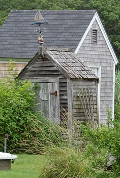 Outhouse, Langsford Rd., Cape Porpoise, Maine - photograph by Geraldine Aikman