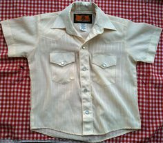 Cream Western Button Down 2T3T by lishyloo on Etsy, $10.00