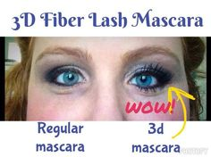 The difference between a regular mascara and the 3D Fiber Lash Mascara is absolutely AMAZING!  29$ US, 35$ CA, $38 AU, $40NZ, 23£ UK,  505$ MX