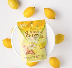 Ginger Chews with Lemon offer a subtle citrus twist to our sweet & spicy Ginger Chews. Simply unwrap, chew and enjoy for a burst of lemon flavor! #PrinceofPeaceGinger #POPGinger #MadeWithGinger Sweet And Spicy, Sans Gluten, Cravings, Lemon, Tasty, Free, Treats, Make It Yourself, Candy