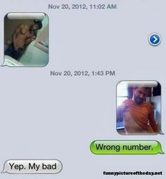 Wrong Number Funny Joke Picture Messages