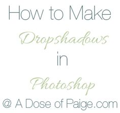 How to Make Dropshadow on Text in Photoshop - A Dose of Paige