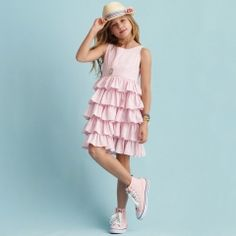 Tiered Seersucker Dress - Girls 7-16 Dresses & Rompers - RalphLauren.com