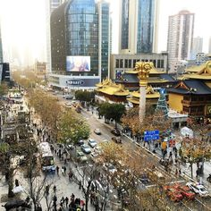 Busy Jing'an Shanghai! by monicamoras