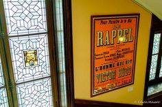 Mansion Victor Hugo: cartaz de sua peça Le Rappel