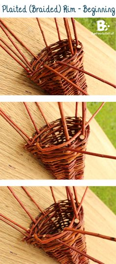 Easy step by step tutorial on Willow Weaving Horn of Plenty. This cornucopia is the perfect decoration for thanksgiving and harvest time. Basketry is so