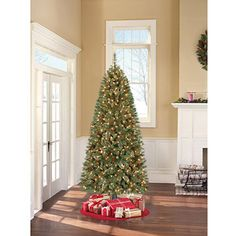 Holiday Time Pre-Lit 7' Brookfield Fir Artificial Christmas Tree, Clear Lights