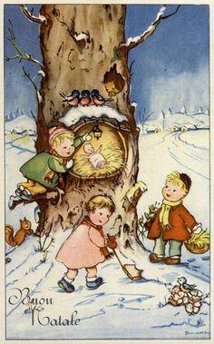 Cartoline Di Natale Anni 30.1458 Fantastiche Immagini Su Cartoline Di Natale Cartoline