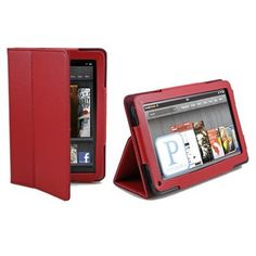 GMYLE (TM) Red Flip Book Folio Slim Fit PU Leather Carry Case Stand Cover for Kindle Fire 7 Tablet by GMYLE. $2.96. - Innovative magnetic closure  - Open interior pocket for easy insertion of Kindle Fire and magnetic flap to secure it in place   - Easy to place inside a bag or carry alone  - Convenient   Specifications:   - For Amazon Kindle Fire  - Material: PU leather   - Color: Red