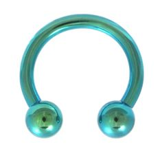 BodyDazz.com - Green Titanium Horseshoe Ring 18G-12G (6 Sizes)