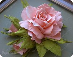 Флористика искусственная День рождения Моделирование конструирование Моя первая роза Фоамиран Фоамиран фом фото 1