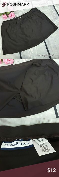 Croft & Barrow Chocolate Brown Swim Skirt size 18W Croft & Barrow Chocolate Brown Swim Skirt size 18W in excellent used condition. Cute slit detail!  Please let me know if you have any questions. Happy Poshing! croft & barrow Swim