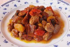 Αρνί με λαχανικά. Νόστιμο αρνάκι στον φούρνο με λαχανικά... Greek Recipes, Lamb, Pork, Cooking Recipes, Meat, Chicken, Ethnic Recipes, Kale Stir Fry, Chef Recipes