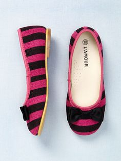 Stripe Bow Flat by L'Amour & Angel at Gilt