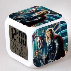 Thor Classic Movie Around LED Alarm Clock despertador Digital Clock Led Alarm Clock, Digital Alarm Clock, Thor, Gadgets, Classic, Movie, Derby, Film, Cinema