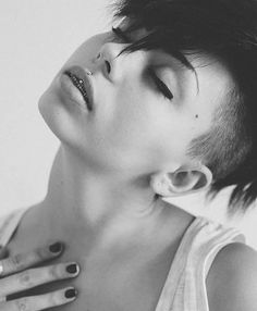 #model #black #white #photografy #ferrara #2014 #photo #set  #girls #bologna #rimini #italy #piercing #snapchat #like # by paticchiaelisa