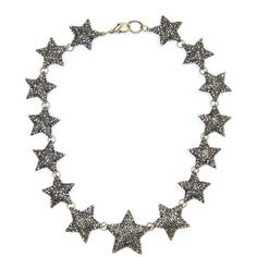 Touch - Strass Stars Choker ($70) ❤ liked on Polyvore