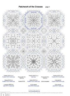 Quilting design for POTC Quilting Stencils, Quilting Projects, Quilting Designs, English Paper Piecing, Free Motion Quilting, Crosses, Quilt Patterns, Boston, Tutorials
