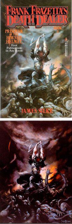 FRANK FRAZETTA - Prisoner of the Horned Helmet - James Silke - 1988 Tor Books - cover by isfdb - print by frankfrazetta.net