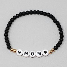 Diy Bracelets For Mom, Cute Bracelets, Handmade Bracelets, Fashion Bracelets, Jewelry Bracelets, Colorful Bracelets, Making Bracelets With Beads, Bracelet Making, Mom Jewelry