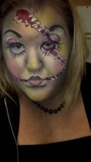 Haloween makeup -dirty dolly